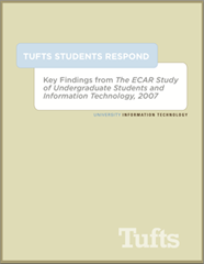 Tufts Students Respond ECAR Report 2007
