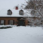 Our house at 95 Talbot Avenue in the snow