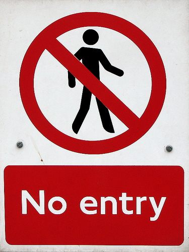 no entry