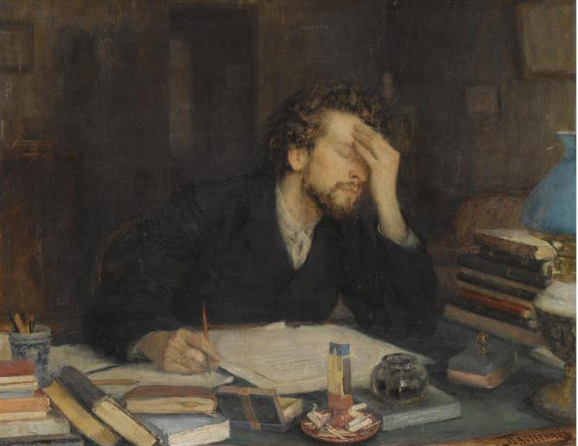 """""""Throes of Creation"""" by Leonid Pasternak"""