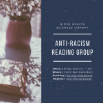 Anti-racism reading group announcement