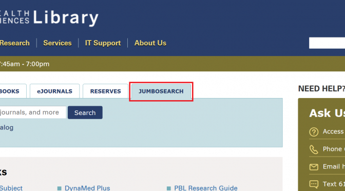 Notes from the Library…Introducing JumboSearch