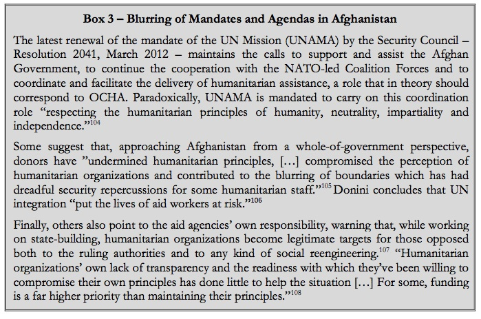Blurring of lines in complex emergencies consequences for the icrc recently warned that when humanitarian action becomes part of military strategies the risks for aid agencies in the field grow exponentially maxwellsz