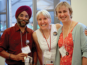 Attendees Jatinder Singh, Emmy Behlau and Michele Swanson, former postdocs. Photo: Claudette Gardel