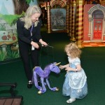 Museum puppeteers were out in force, introducing kids to unicorns.