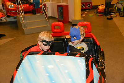 Batman and Robin took the Ball by storm in their Bat-Beetle.