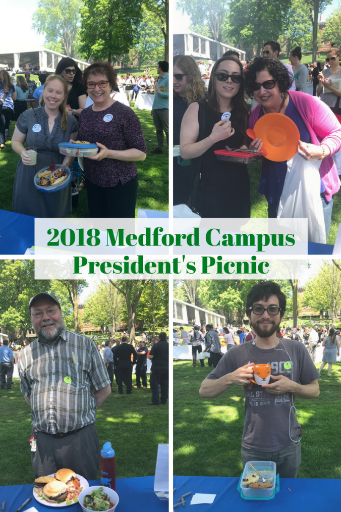 Photos of attendees with their own plates at the 2018 Medford Campus President's Picnic