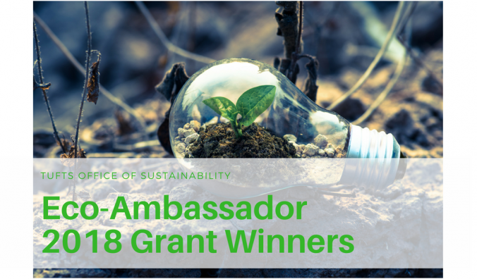 Blog banner, 2018 eco ambassador grant winners, lightbulb with seedling growing inside