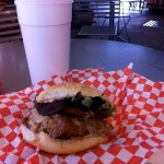 Alligator Burger. Yum! (seriously)