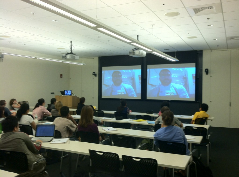 SKYPE with Chef Dan Felder, fermentation expert, in my food microbiology class at the Harvard Summer School.