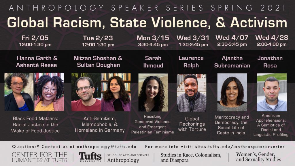 Anthropology Speaker Series Spring 2021 Schedule