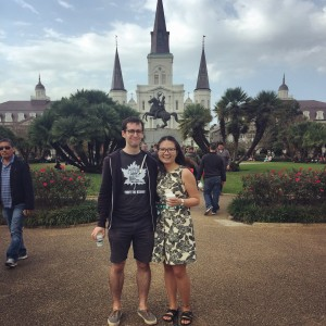 Jackson Square with my boyfriend!