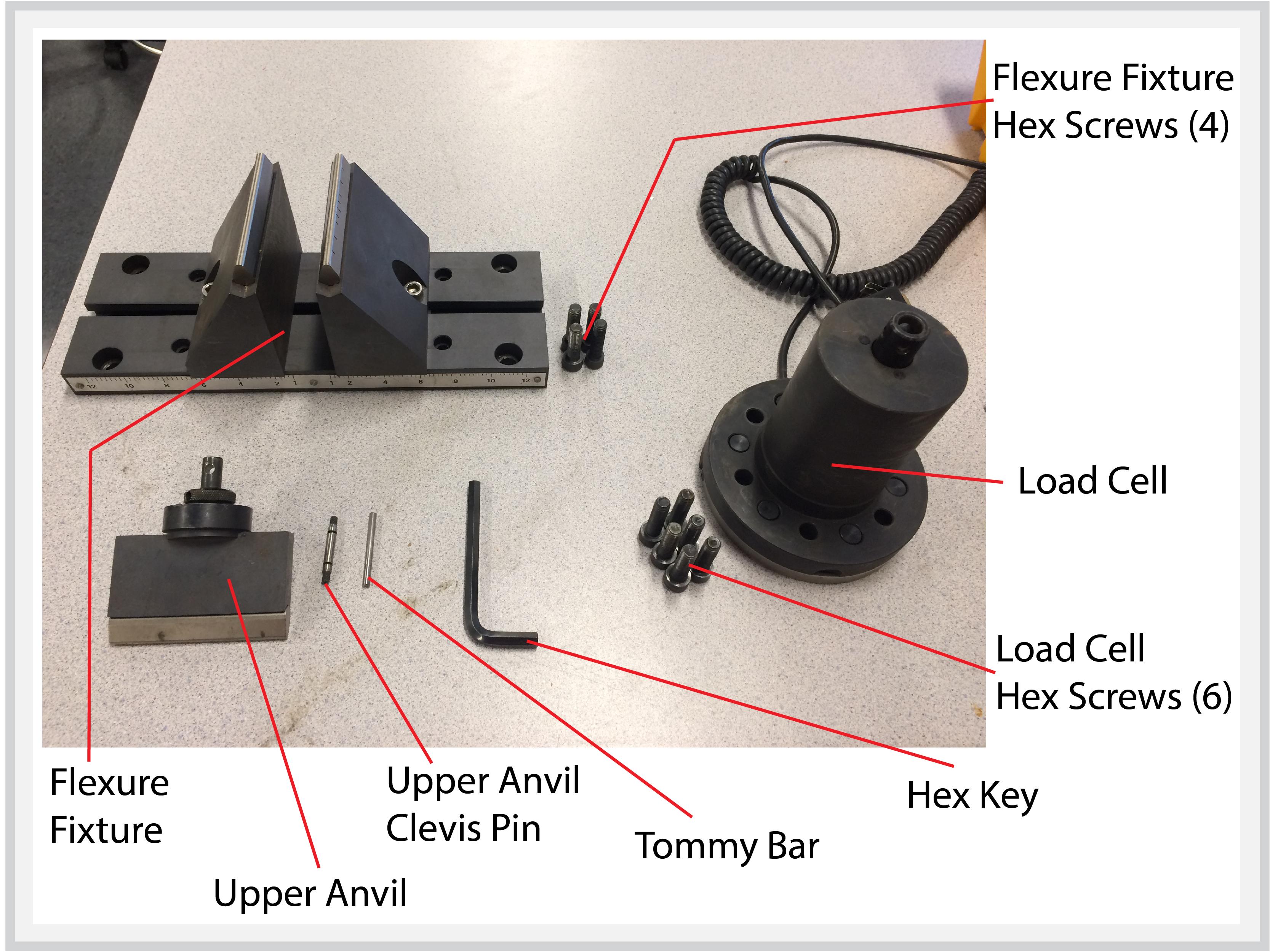 3 Point Bend Test Machine Setup Bray Lab