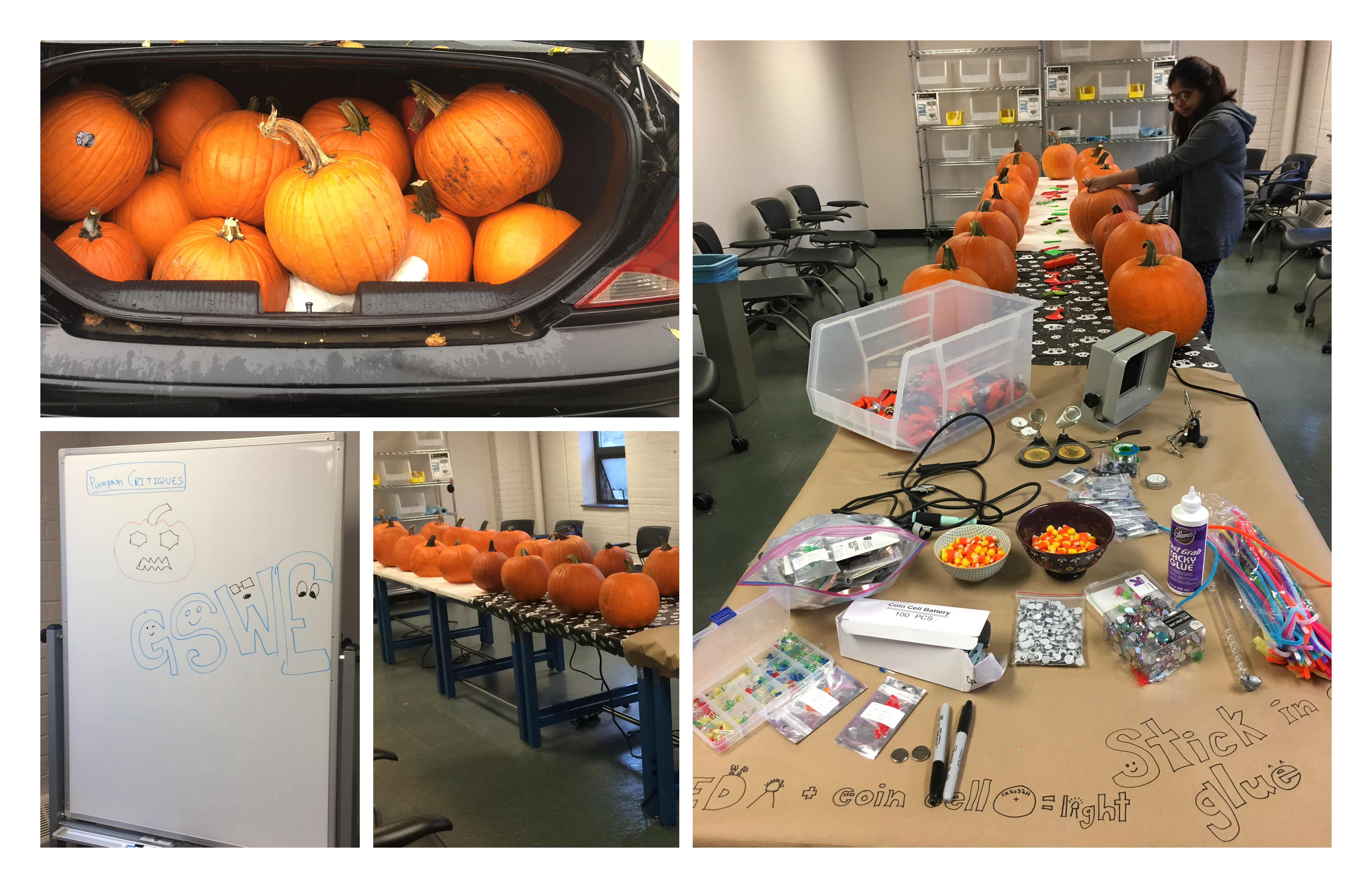 GSWE Carves Pumpkins at Bray!