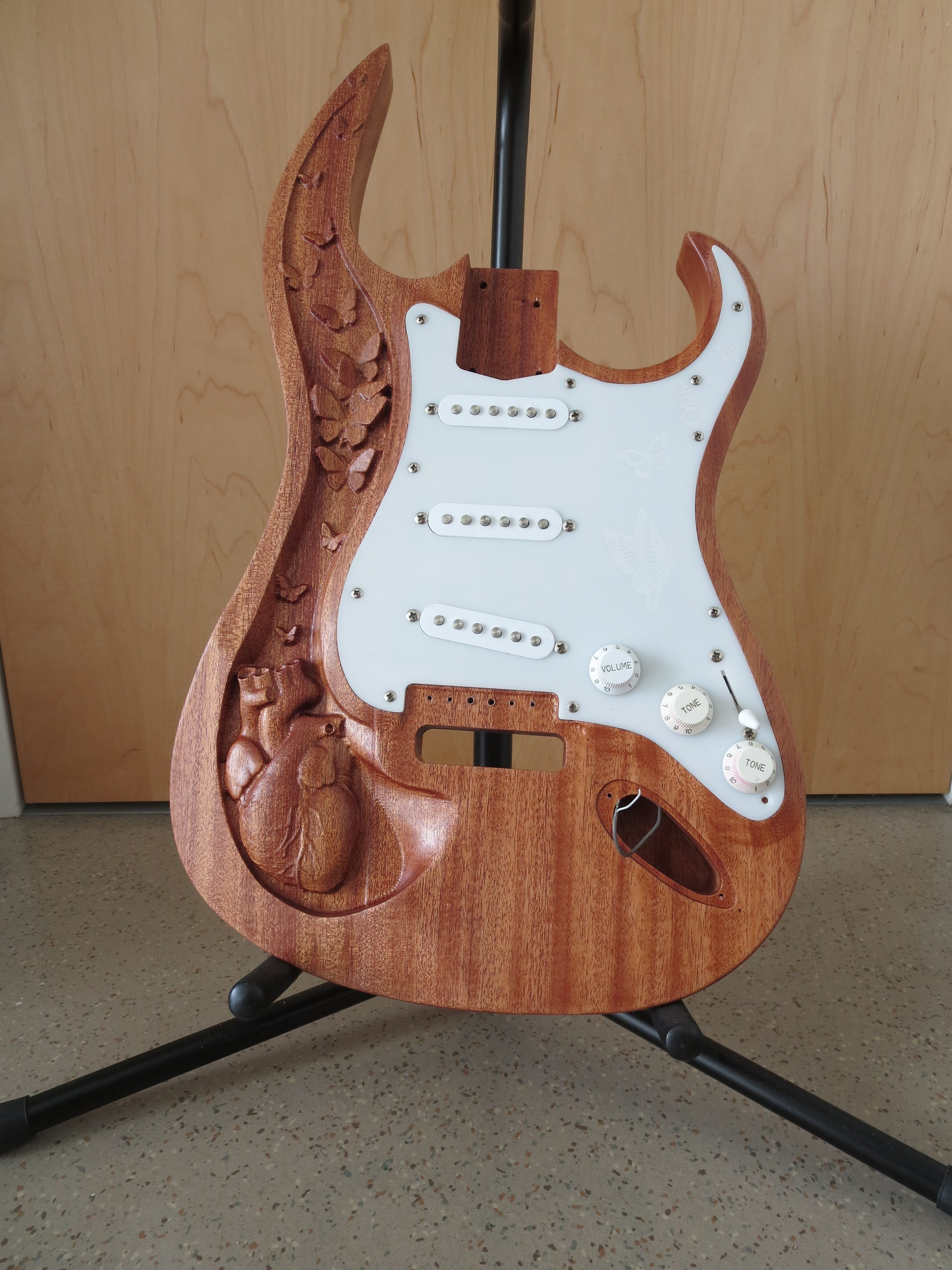 Electric Guitar Build Bray Lab What Wiring Mods Do You Have Page 3 Fender Stratocaster Which Would Cover The Back Pocket That I Had Created These Parts Took Several Tries To Get Right Especially Because Such Strangely