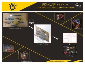 Bray Week 1: Laser Cut Tool Organizer