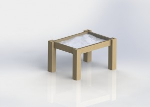 Rendered image of the coffee table