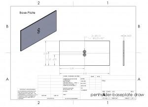 penholder-baseplate draw