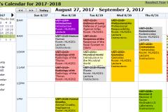 Event Lecture Calendar