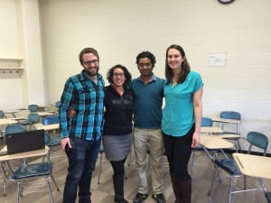Kyle, Tania, Sohom and Annalise (2014-2015 CEE GPSAC)