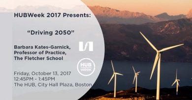 """Boston HUBweek: October 13 panel on """"Driving 2050"""" featuring Bobbi Kates-Garnick"""