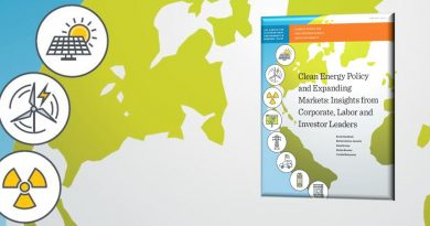 """Image of web banner for CIERP report, """"Clean Energy Policy and Expanding Markets: Insights from Corporate, Labor, and Investor Leaders"""