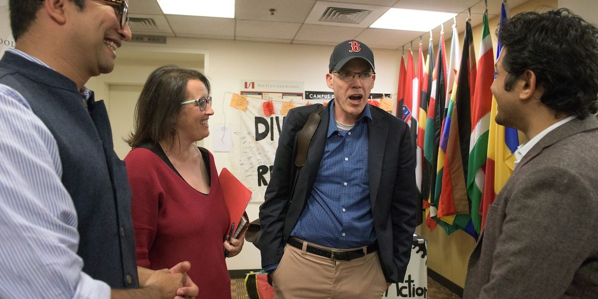 Environmentalist Bill McKibben Visits The Fletcher School