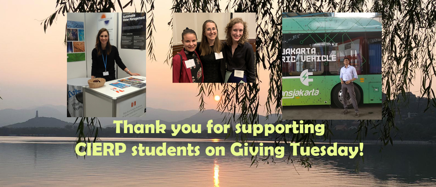 Thank you, CIERP donors!