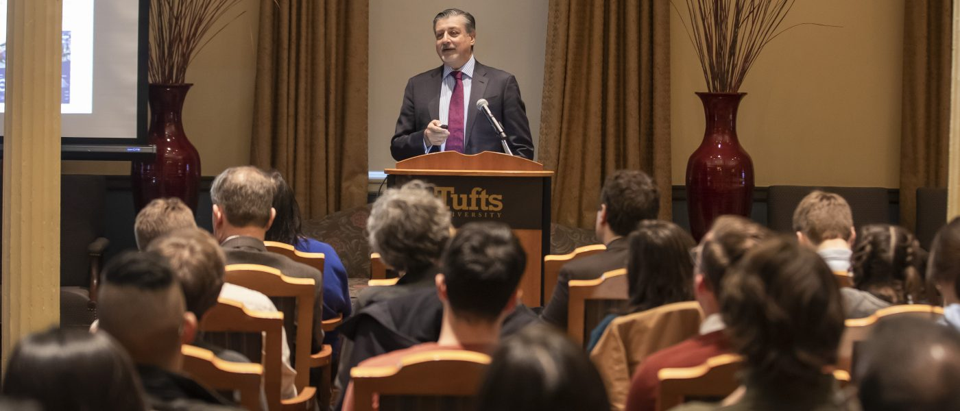 Adnan Amin visits Tufts for a CIERP and CREATE Solutions Lecture and Reception