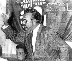 André Cools, Wallonian politician and member of the Parti Socialiste. Unknown date. Wikimedia/Creative Commons, Mario scolas.
