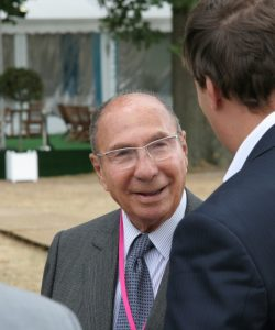 Serge Dassault, French businessman and politician, at the summer program of the Movement of the Enterprises of France, in September 2009. Flickr/Creative Commons, MEDEF.