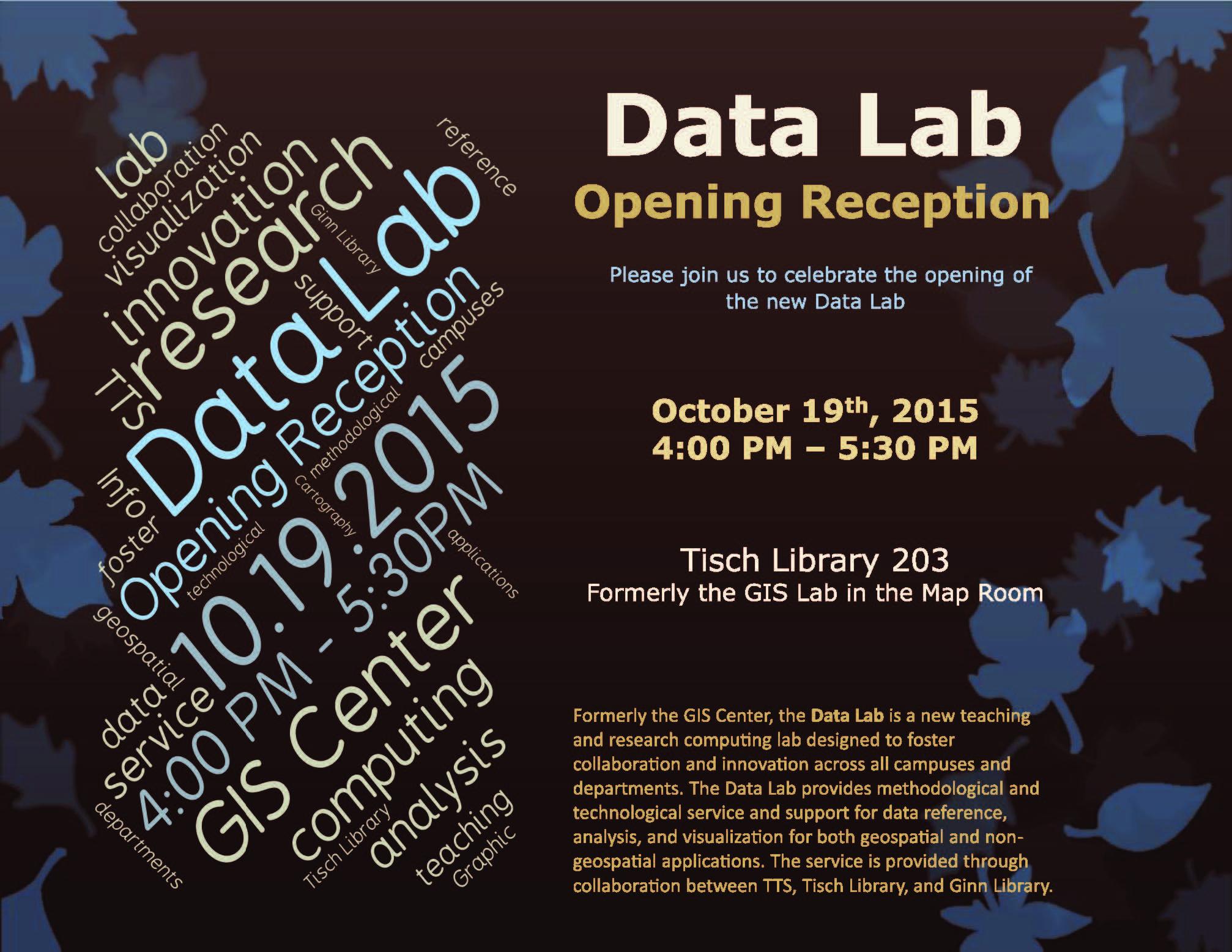Data Lab Opening Reception_10.19.15