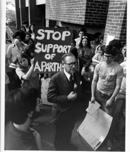 Students protesting Apartheid, April 29, 1978 http://hdl.handle.net/10427/1054