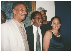 From L to R: Lesra Martin, John Artis, Rubin Carter, Denzel Washington, and Cheryl Martin, circa 1999.