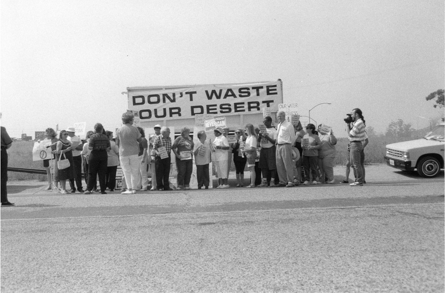 April 1992 Protest against toxic landfill in Eagle Mountain, California.