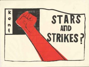 Student Protest Poster referencing Kent State