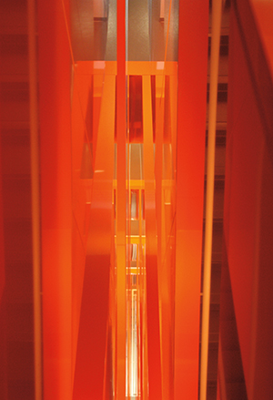 300W_Orange stairwell abstract