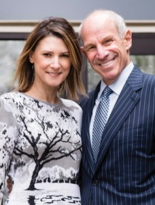 04/11/2016 - Medford/Somerville, Mass. - Trustee Jonathan Tisch, A76, and his wife Lizzie pose for a photo at the Tisch College of Civic Life on April 11, 2016. (Alonso Nichols/Tufts University)