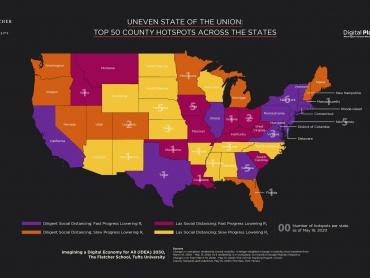 Top 50 COVID hotspots US