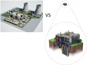 Figure 2. Rough Estimate of Size between Nuclear Reactor and Small Modular Reactor