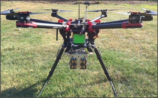 The SAR-equipped drone used for the Blue Team's project.