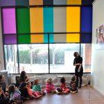 EPCS students visiting Tufts Art Gallery