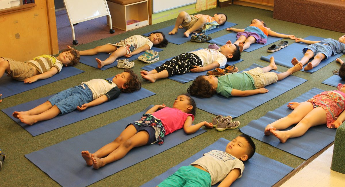 At EPCS we believe that mindfulness can have a big impact on a child's learning and well-being. Throughout the day teachers incorporate age-appropriate mindful exercises into their daily routines. Yoga, moments of silence followed by reflection and breathing exercises are some of the ways in which children practice mindfulness at EPCS.