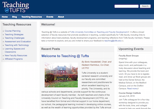 Teaching at Tufts website