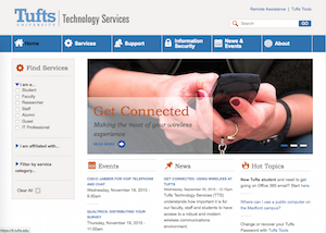 Tufts Technology Services website