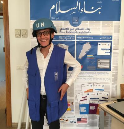 Nico in UN Garb
