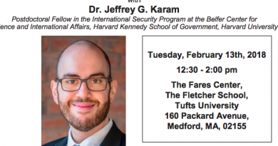 Dr. Jeffrey G. Karam: Tuesday, February 13