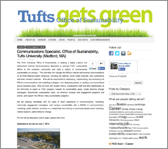 Tufts Gets Green
