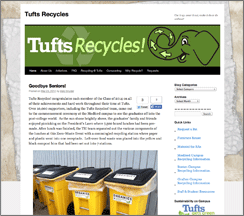Tufts Recycles