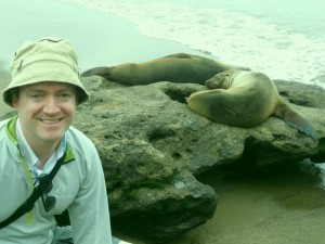 Dan and sea lion